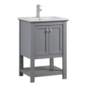 "Fresca Manchester 24"" Traditional Bathroom Vanity Fresca 24 inch Single Vanity Gray"