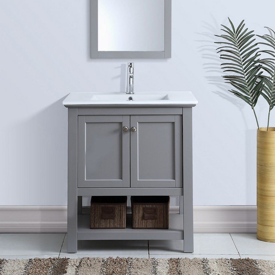"Fresca Manchester 30"" Traditional Bathroom Vanity Fresca 30 inch Single Vanity"