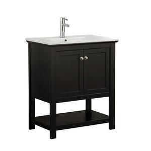 "Fresca Manchester 30"" Traditional Bathroom Vanity Fresca 30 inch Single Vanity Black"
