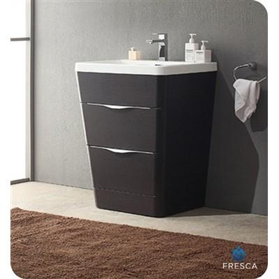 "Fresca Milano 26"" Modern Bathroom Cabinet with Integrated Sink Fresca 26 inch Single Vanity Chestnut"