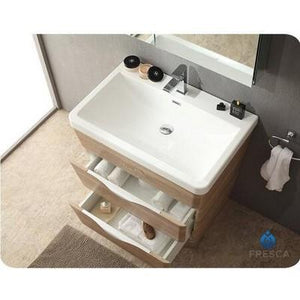 "Fresca Milano 32"" Modern Bathroom Cabinet with Integrated Sink Fresca 32 inch Single Vanity"