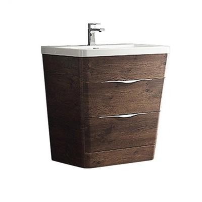 "Fresca Milano 32"" Modern Bathroom Cabinet with Integrated Sink Fresca 32 inch Single Vanity Rosewood"
