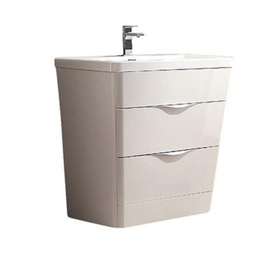 "Fresca Milano 32"" Modern Bathroom Cabinet with Integrated Sink Fresca 32 inch Single Vanity Glossy White"