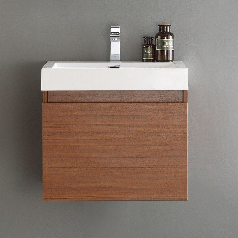 "Fresca Nano 24"" Modern Bathroom Cabinet with Integrated Sink Fresca 24 inch Single Vanity"