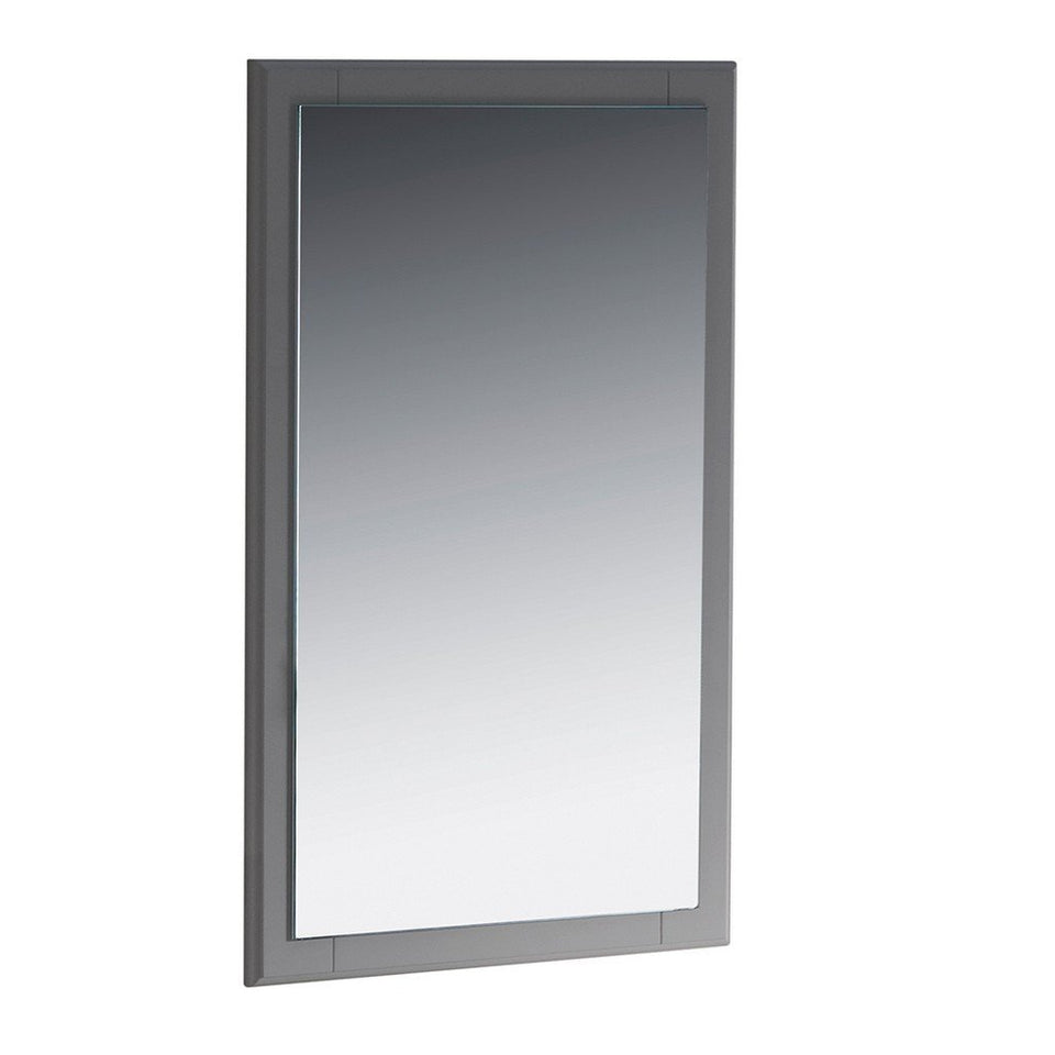 "Fresca Oxford 20"" Mirror Fresca Mirrors Gray"