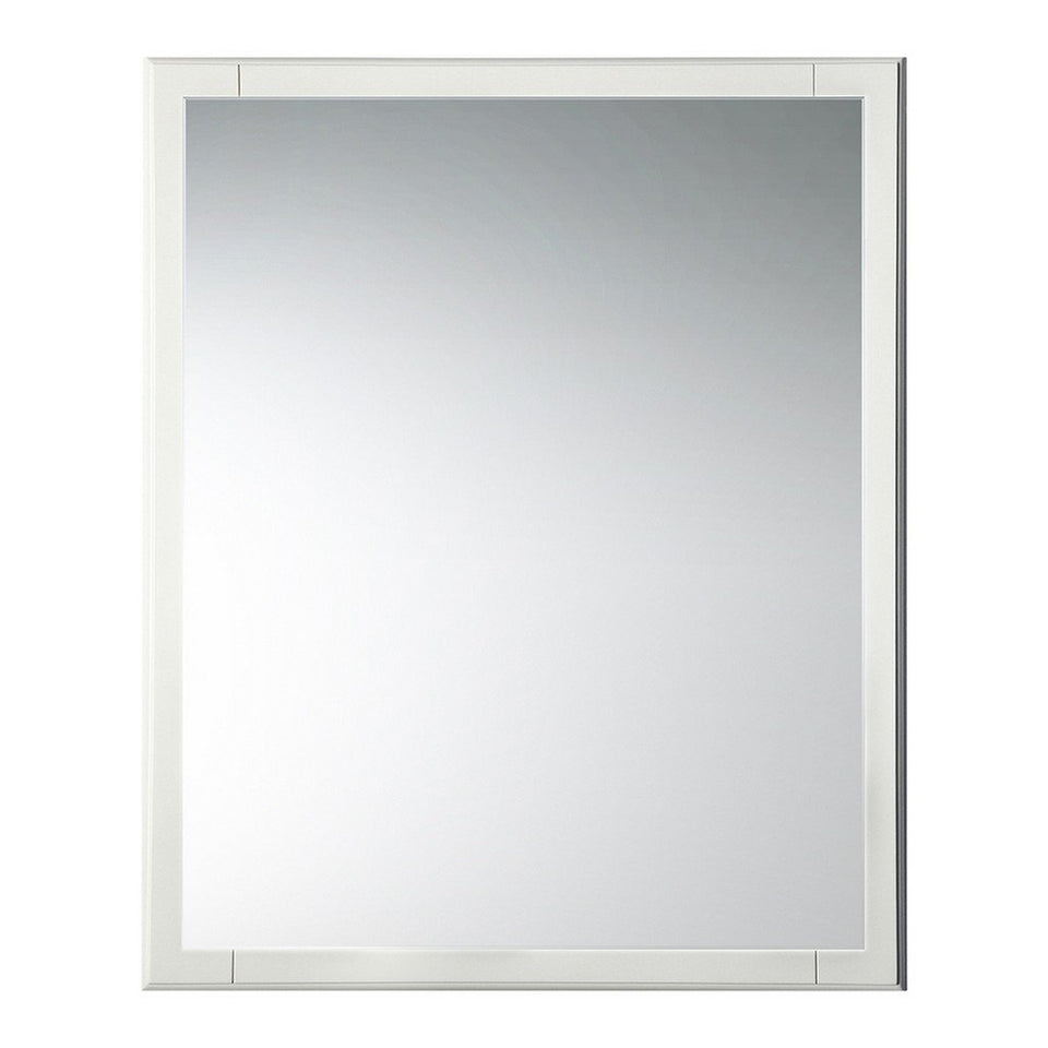 "Fresca Oxford 26"" Mirror Fresca Mirrors Antique White"