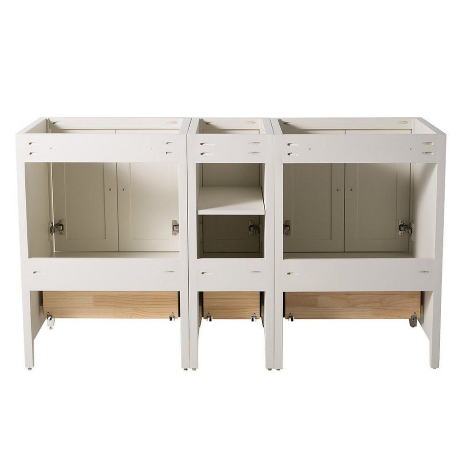 "Fresca Oxford 60"" Traditional Double Sink Bathroom Cabinets Only Fresca 60 inch Double Vanity"