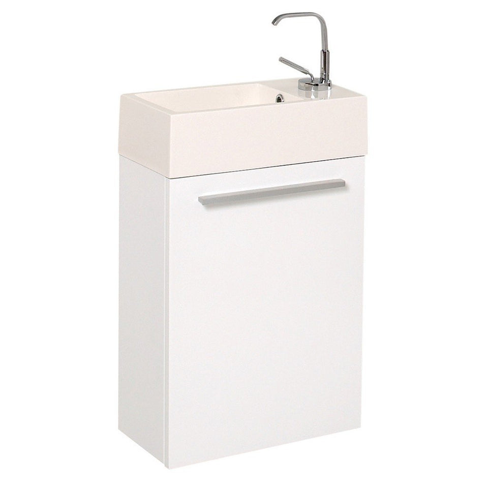 "Fresca Pulito 16"" Modern Bathroom Vanity with Integrated Sink Fresca 16 inch Single Vanity White"