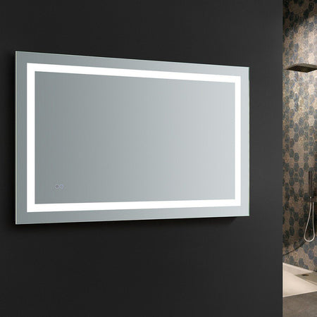 "Fresca Santo 48"" Wide x 30"" Tall Bathroom Mirror with LED Lighting and Defogger Fresca Mirrors"