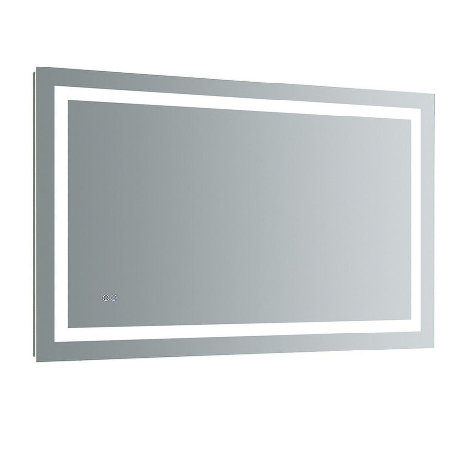 "Fresca Santo 48"" Wide x 30"" Tall Bathroom Mirror with LED Lighting and Defogger Fresca Mirrors Glass"
