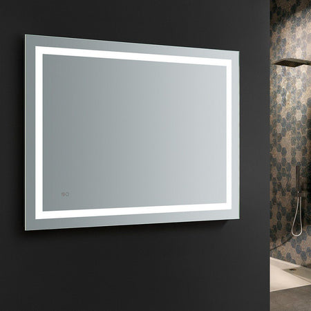 "Fresca Santo 48"" Wide x 36"" Tall Bathroom Mirror with LED Lighting and Defogger Fresca Mirrors"