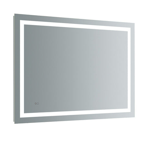 "Fresca Santo 48"" Wide x 36"" Tall Bathroom Mirror with LED Lighting and Defogger Fresca Mirrors Glass"
