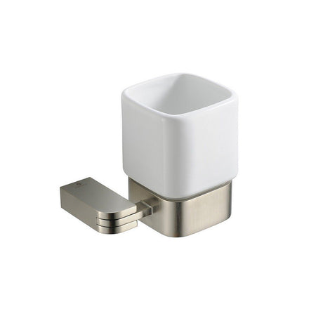 Fresca Solido Tumbler and Tumbler Holder Fresca Tumblers Brushed Nickel