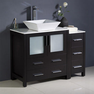 "Fresca Torino 42"" Modern Bathroom Cabinets with Top & Vessel Sink Fresca 42 inch Single Vanity"