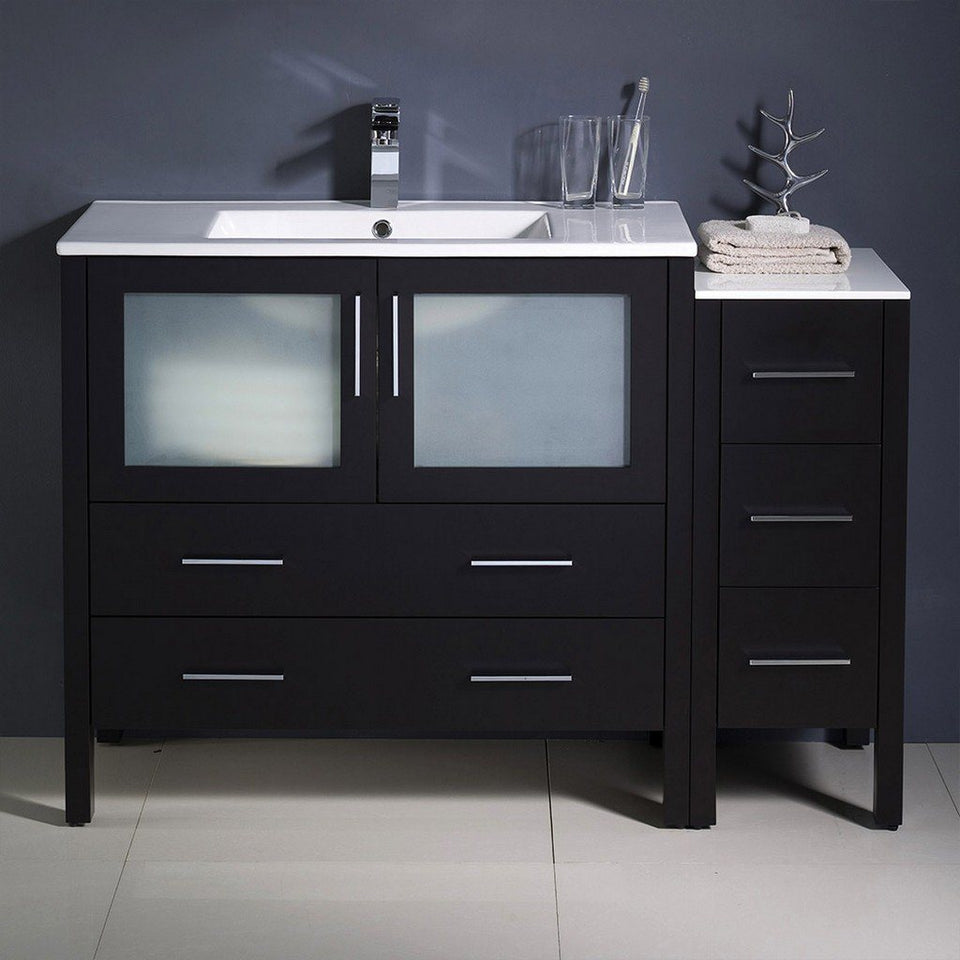 "Fresca Torino 48"" Modern Bathroom Cabinets with Integrated Sink Fresca 48 inch Single Vanity"