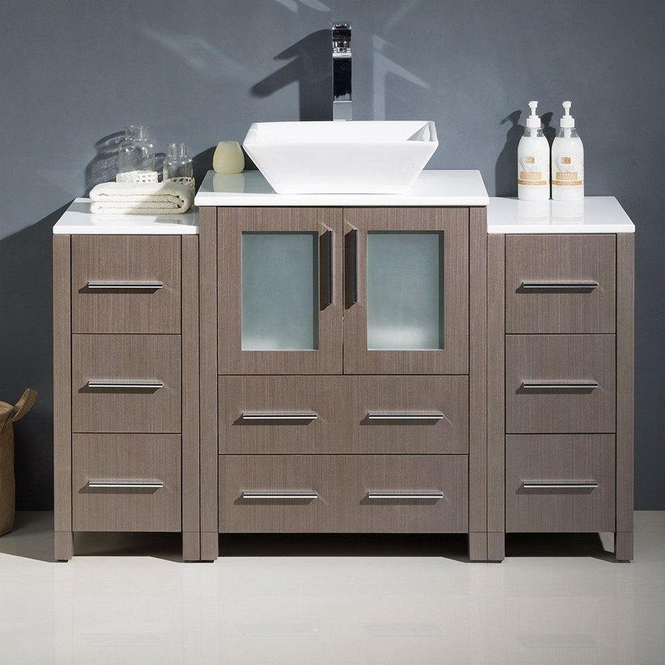 "Fresca Torino 48"" Modern Bathroom Cabinets with Top & Vessel Sink Fresca 48 inch Single Vanity"