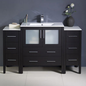 "Fresca Torino 54"" Modern Bathroom Cabinets with Integrated Sink Fresca 54 inch Single Vanity"