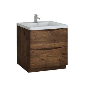 "Fresca Tuscany 32"" Free Standing Modern Bathroom Cabinet with Integrated Sink Fresca 32 inch Single Vanity Rosewood"