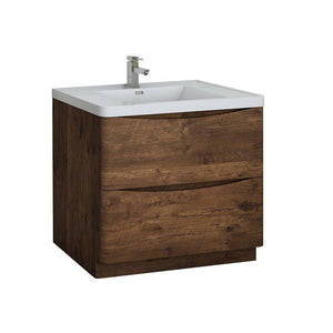 "Fresca Tuscany 36"" Free Standing Modern Bathroom Cabinet with Integrated Sink Fresca 36 inch Single Vanity Rosewood"