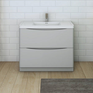 "Fresca Tuscany 40"" Free Standing Modern Bathroom Cabinet with Integrated Sink Fresca 40 inch Single Vanity"