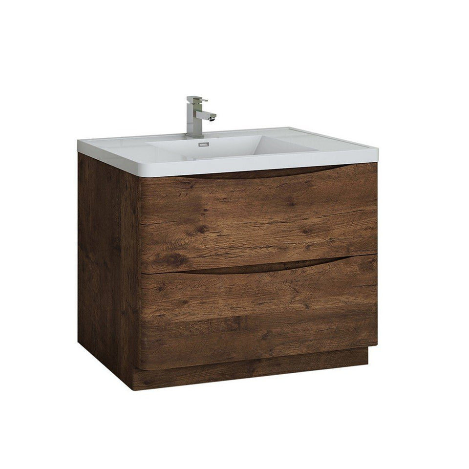 "Fresca Tuscany 40"" Free Standing Modern Bathroom Cabinet with Integrated Sink Fresca 40 inch Single Vanity Rosewood"