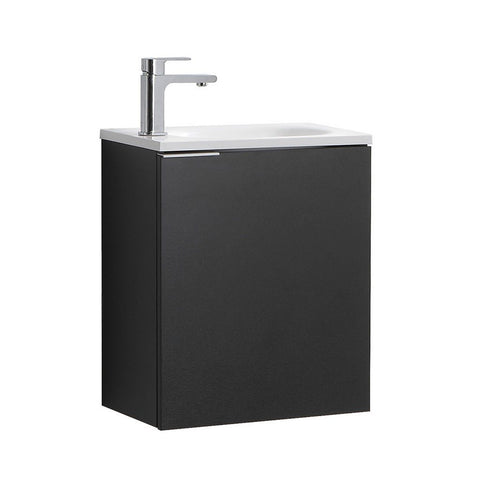 "Fresca Valencia 20"" Wall Hung Modern Bathroom Vanity Fresca 20 inch Single Vanity Black"
