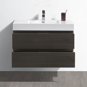 "Fresca Valencia 36"" Wall Hung Modern Bathroom Vanity Fresca 36 inch Single Vanity"