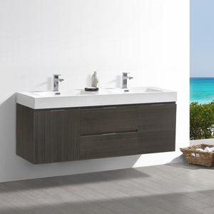 "Fresca Valencia 60"" Wall Hung Double Sink Modern Bathroom Vanity Fresca 60 inch Double Vanity"