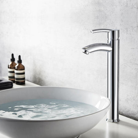 Jayne Single-Lever Vessel Bathroom Faucet - Polished Chrome Vinnova Faucets