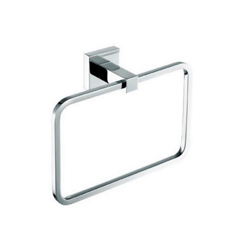 KubeBath Aqua Piazza by KubeBath Towel Ring KubeBath Towel Rings Chrome