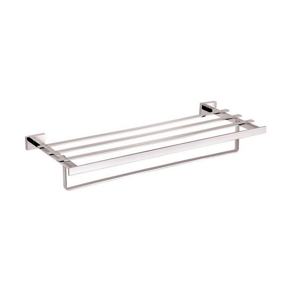 "KubeBath Aqua Plato 24"" Towel Rack KubeBath Towel Racks Chrome"