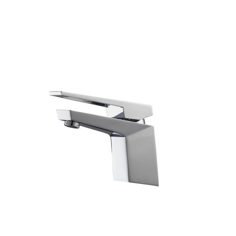 KubeBath Aqua Siza Single Lever Modern Bathroom Vanity Faucet KubeBath Faucets Polished Chrome