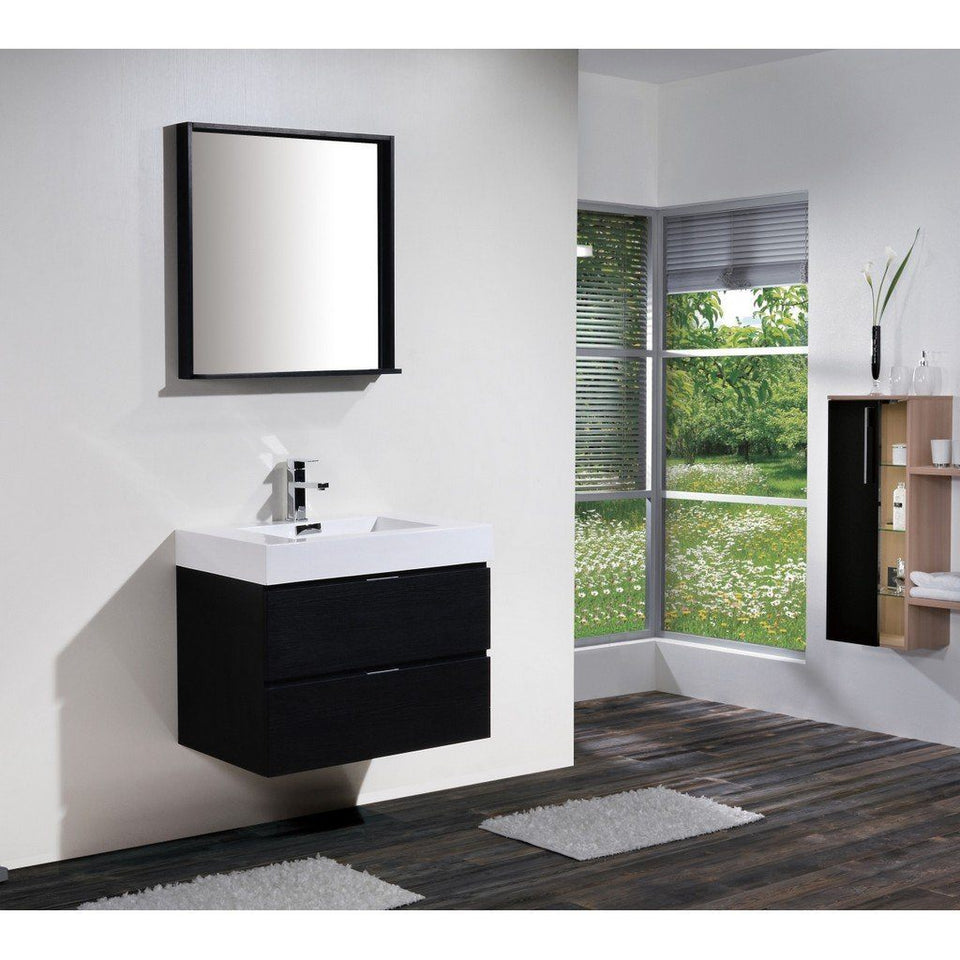 "KubeBath Bliss 30"" Wall Mounted Modern Bathroom Vanity KubeBath Vanities"