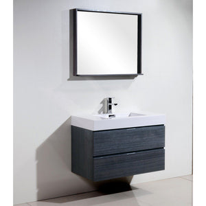 "KubeBath Bliss 36"" Wall Mounted Modern Bathroom Vanity KubeBath Vanities"