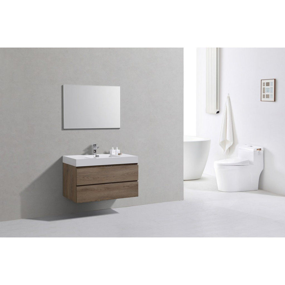 "KubeBath Bliss 40"" Wall Mounted Modern Bathroom Vanity KubeBath Vanities"