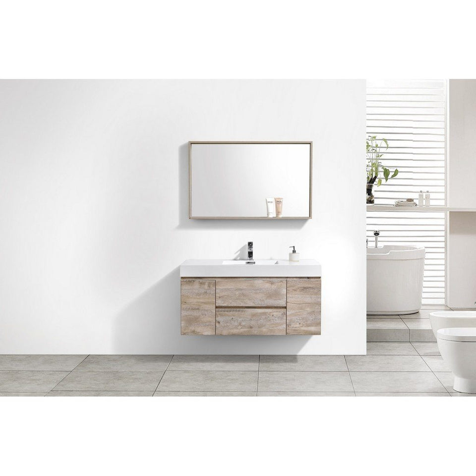 "KubeBath Bliss 48"" Wall Mounted Modern Bathroom Vanity KubeBath Vanities"
