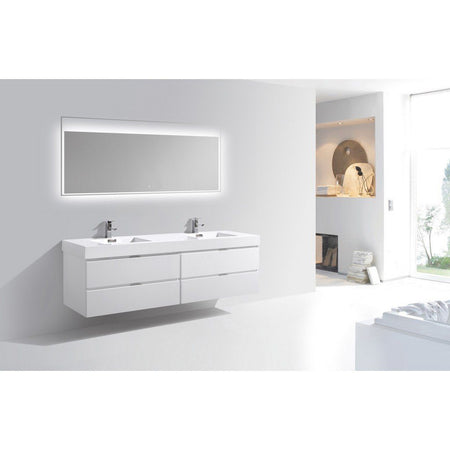 "KubeBath Bliss 80"" Wall Mounted Modern Bathroom Vanity KubeBath Vanities"
