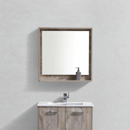 "KubeBath Bosco 30"" Framed Mirror With Shelf KubeBath Mirrors"