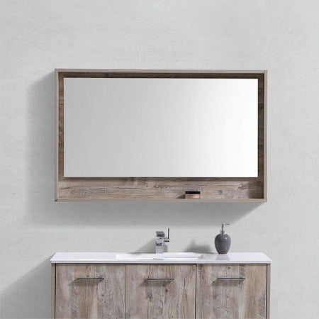 "KubeBath Bosco 48"" Framed Mirror With Shelf KubeBath Mirrors"