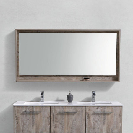 "KubeBath Bosco 60"" Framed Mirror With Shelf KubeBath Mirrors"