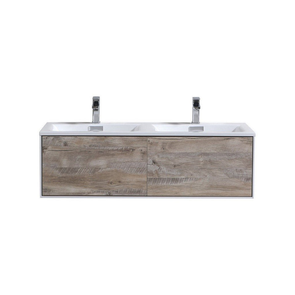 "KubeBath Divario 48"" Wall Mounted Modern Bathroom Vanity KubeBath Vanities Natural Wood"