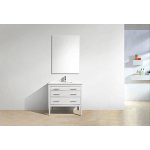 KubeBath Eiffel 36'' Vanity with Quartz Counter Top KubeBath Vanities