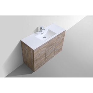 "KubeBath Milano 48"" Modern Single Bathroom Vanity KubeBath 48 inch Single Vanity"