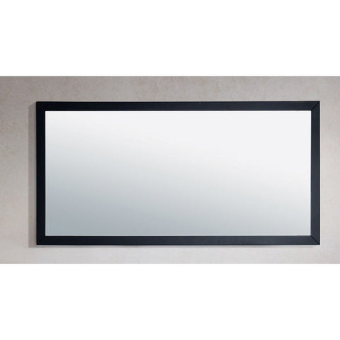 "Laviva Fully Framed 60"" Mirror Laviva Mirrors Espresso"
