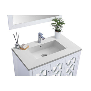 "Laviva Mediterraneo 36"" Cabinet with Matte White VIVA Stone Solid Surface Countertop Laviva Vanities"