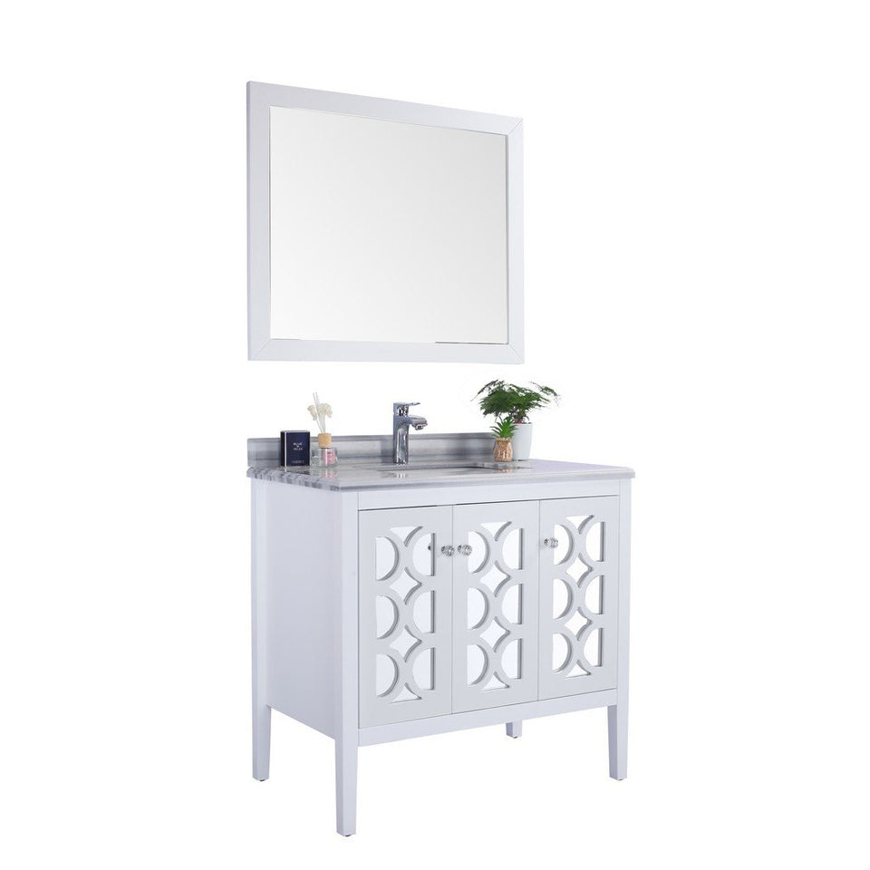 "Laviva Mediterraneo 36"" Cabinet with White Stripes Counter Laviva Vanities"