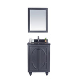 "Laviva Odyssey 24"" Cabinet with Black Wood Counter Laviva Vanities Grey"