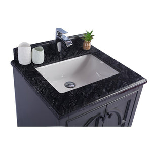 "Laviva Odyssey 24"" Cabinet with Black Wood Counter Laviva Vanities"