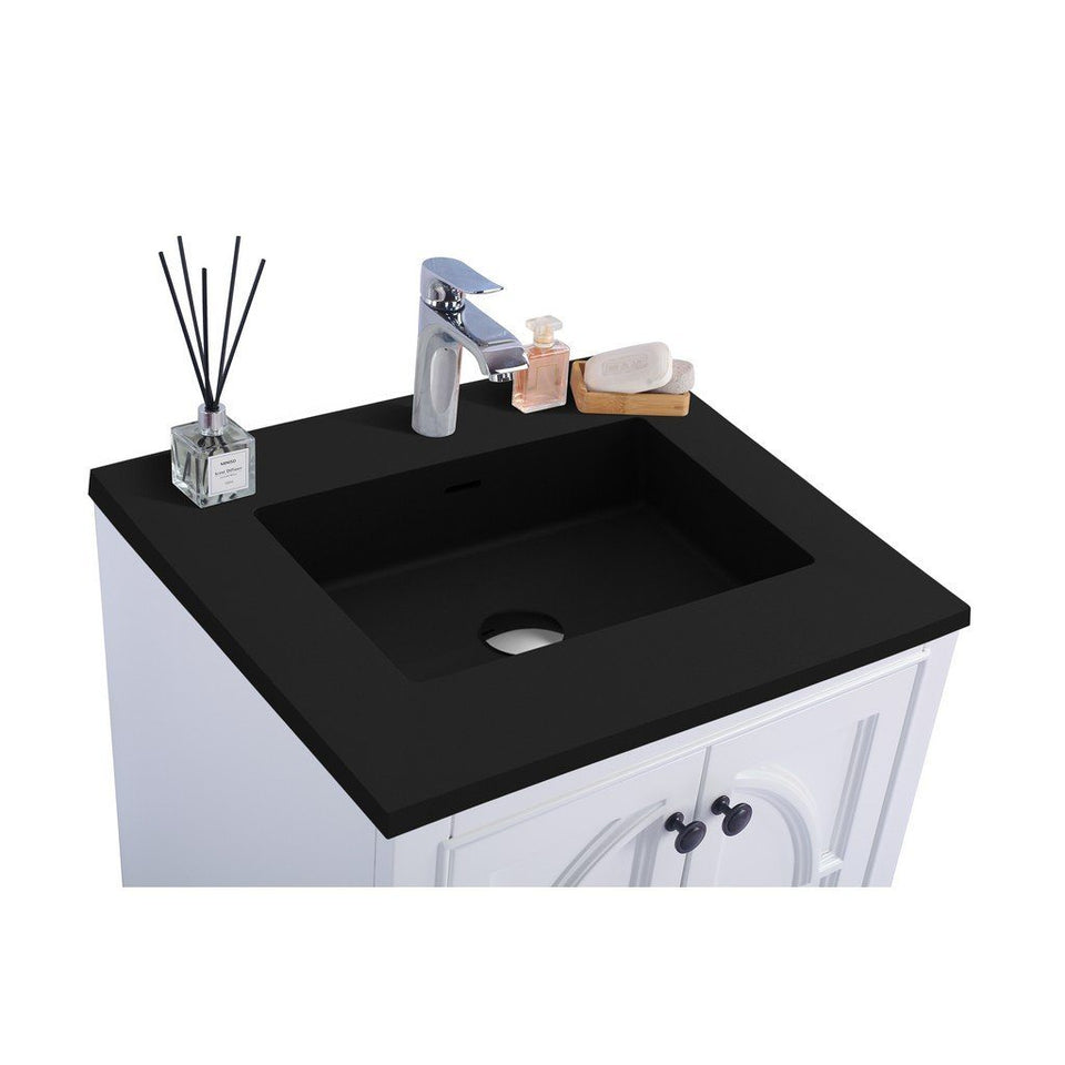 "Laviva Odyssey 24"" Cabinet with Matte Black VIVA Stone Solid Surface Countertop Laviva Vanities"