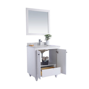 "Laviva Odyssey 30"" Cabinet with Matte White VIVA Stone Solid Surface Countertop Laviva Vanities"
